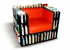 本の虫を虜にしてしまうイス - Library Chair -