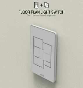 とてもわかりやすい!わかりやスイッチ - Floor Plan Light Switch -