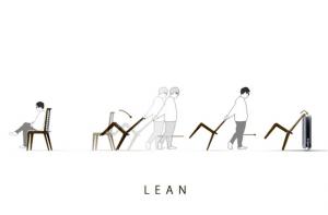 物干になる椅子 - LEAN -