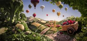 食材のみを使って作られたファンタジーな世界 - Foodscapes -