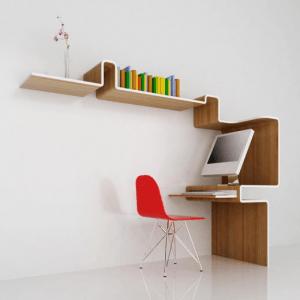 デザインと省スペース性を兼ね備えたデスク - K Workstation -
