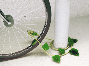 ツタのようなかわいいワイヤーロック - Ivy Bike Lock -