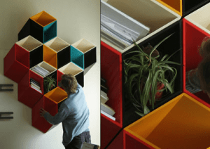 クリエイティブな本棚がいっぱい