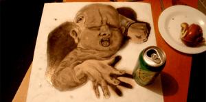 信じられないほどリアルに立体的な鉛筆画 - Fredo -