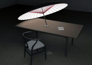 ときに光を、ときには影をもたらす傘 - Day Shade Night Light -