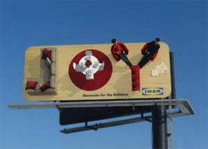 とてもクリエイティブな街角の看板広告