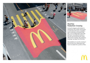フライドポテトの横断歩道 - McDonald's: MacFries Pedestrian Crossing -