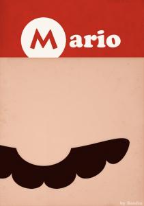 徹底的に無駄を省いた有名ゲームキャラクターイメージ – simple video games -