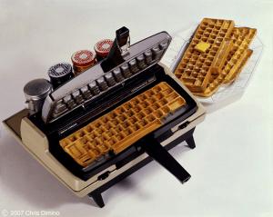 ワッフルを焼けちゃうタイプライター - Typewriters Waffle Iron -