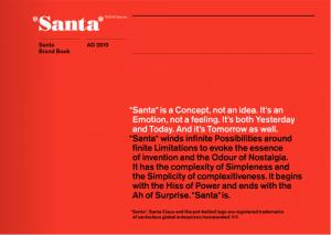 サンタさんの説明書 - Santa Brand Book -
