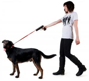 ペットに拳銃を向ける残酷な飼い主 - Povodokus -