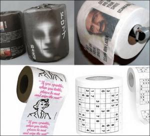 折り鶴でお尻を拭く、楽しいトイレタイム - whackiest toilet paper design -