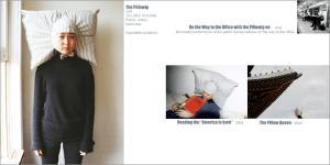 枕がついたカツラとのどこでも眠れる日々 – The Pillowig -