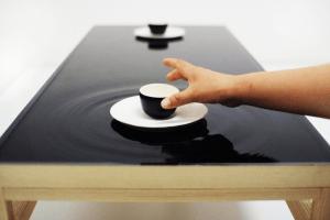 波紋に癒されるテーブル - Ripple effect tea table -