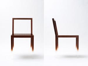 宙に浮いているイス - fade out chair -