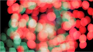 ボケ味で幻想的な花火の映像 - Bokeh -