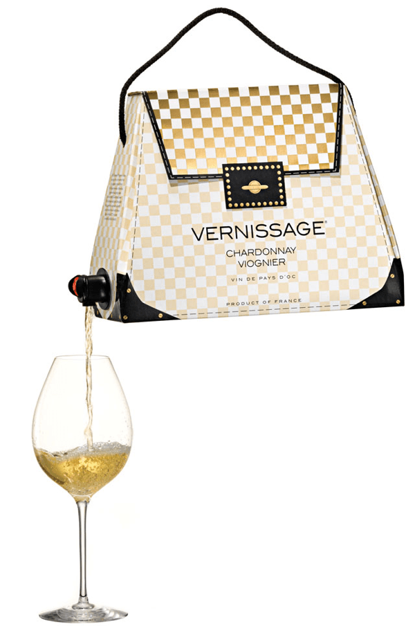 Boxed Wine Packaged to Look Like Fashion Handbags