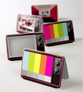 置いておくだけで楽しい!レトロなテレビやお札の付箋紙 - Mini it color TV & MONEY -