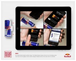 これがまさにエネルギーチャージ!iPhoneに翼を授けるキャンペーン - Red Bull Portable Charger -