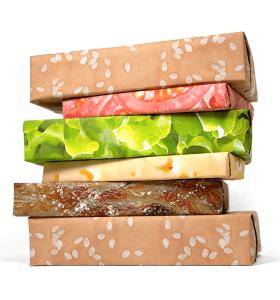美味しそう!ハンバーガー好きなら中身より嬉しいかもしれない包装紙 - Premium Wrapping Paper Sets -