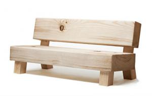 これはビックリする!どうみても木製のベンチにしか見えないソファ - Faux Bench Sofa -