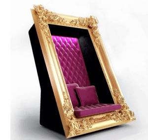 座るだけで絵になる!額縁に収まりたい人のためのゴージャスなソファ - Frame Chair -