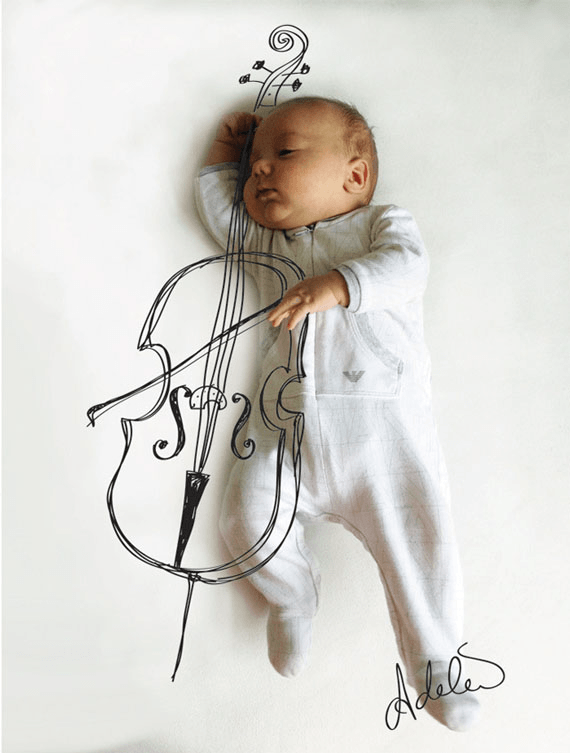 Drawings Show What Napping Baby Is Dreaming