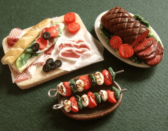 Various Food Miniatures
