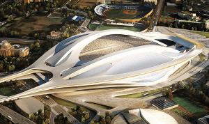 改修計画中の新国立競技場の古墳型デザインが楽しすぎる - NEW NATIONAL STADIUM JAPAN -