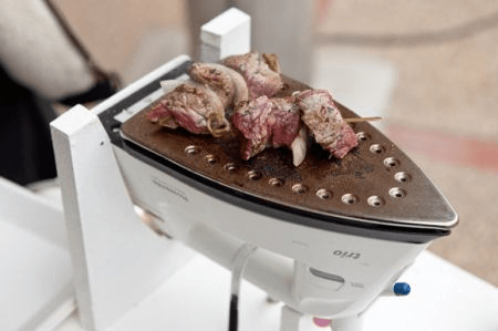 Tasty BBQ on an iron