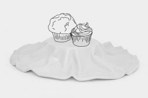 逆転の発想の食器!エレガントに飾れる布のようなお皿 - Tecido Platter -