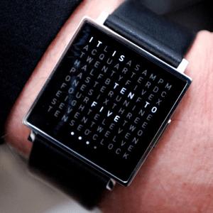 これはオシャレ!文章で時刻を伝える個性的な腕時計 - Qlocktwo Watch -