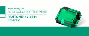 2013年のテーマカラーはエメラルド - Pantone Color of the Year 2013 -
