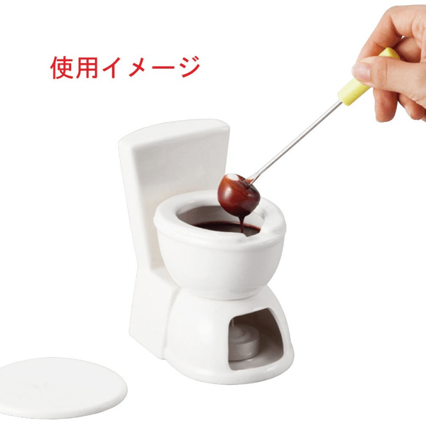toilet chocolate fondue