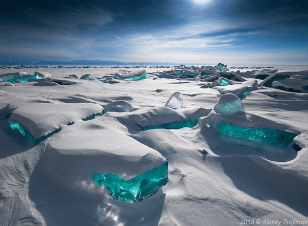 Shards of Turquoise Ice