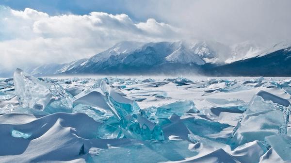 Shards of Turquoise Ice