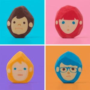 消すのが楽しそう!使いながら髪型の変化を楽しめるカワイイ消しゴム - Hair-cut Eraser