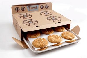 すごい!できたてほやほやを見た目でも感じれるアイデアがすごいクッキーのパッケージ - Thelma'sTreats