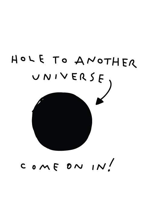 Hole to Another Universe Decal