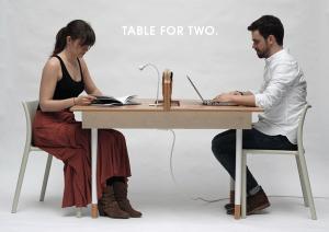 すごく実用的!二人暮らしにちょうどいい、二人とみんなのためのテーブル - Table for Two