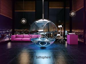未来的すぎる!宙に浮いた透明な球体のバスルーム - BATHSPHERE