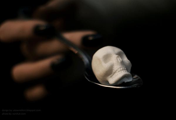 Skull-and-Bones Sugar Cubes
