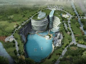 行ってみたい!採石場跡に作られるダムのようなホテルがスゴすぎる! - Amazing Underground Hotel