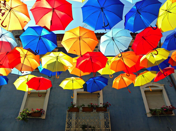 New Colorful Canopies of Umbrellas