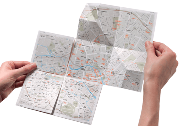単純だけどすごい!紙なのに拡大できる画期的な地図 - map²