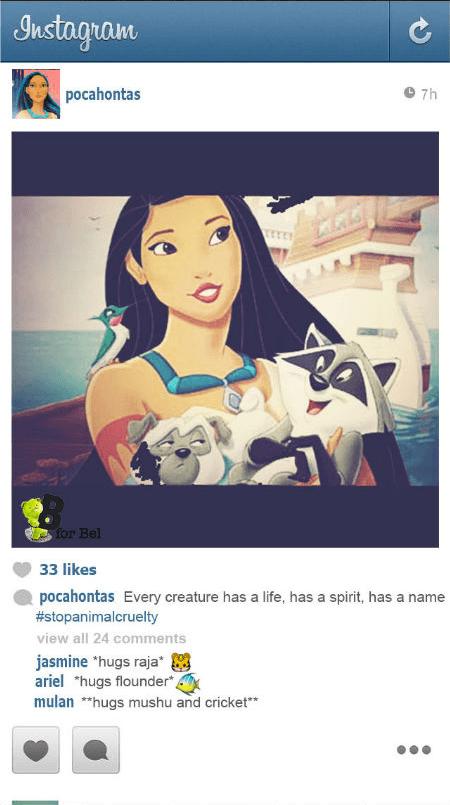 If Disney Princesses Had Instagram