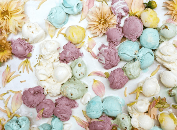 Ice Cream and Flowers