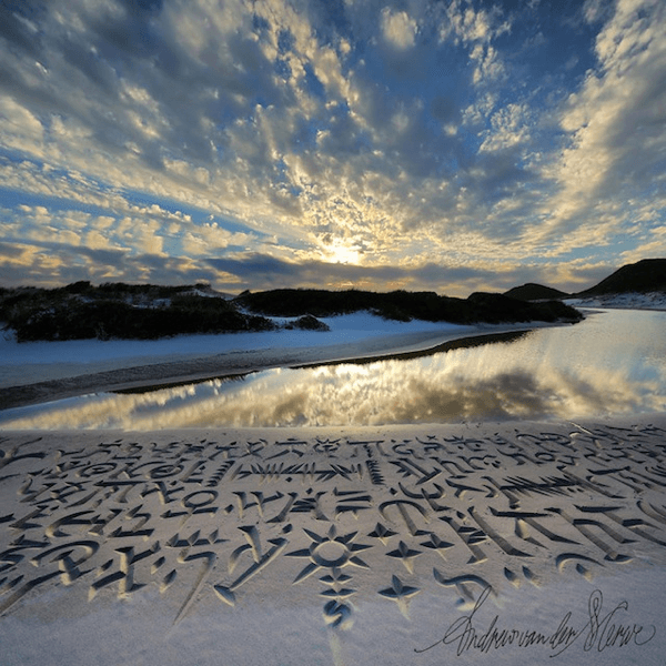 Amazing Beach Calligraphy
