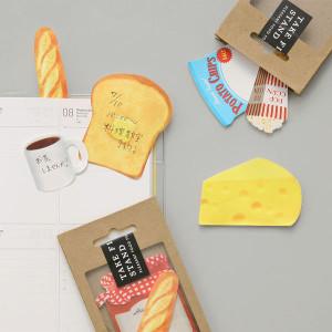 思わずかじりつきたくなる!ほっと一息つきたい時に使いたい本物そっくりな食材の付箋 - STICKY MEMO DELICA