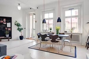 センス良すぎ!白基調のスタイリッシュでオシャレなお部屋 - Cozy Gothenburg flat
